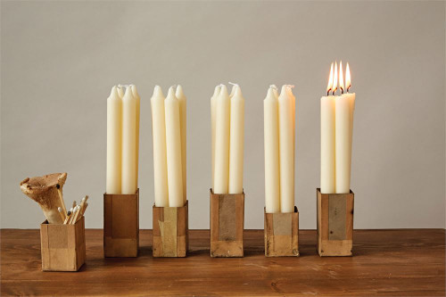 """Set of 12 10""""H Unscented Taper Candles"""
