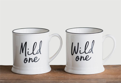 "14 oz ""Mild One"" or ""Wild One"" Stoneware Mug"