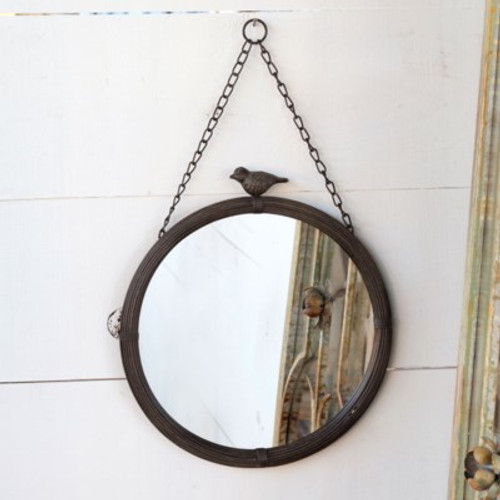 Large Hanging Bird Mirror