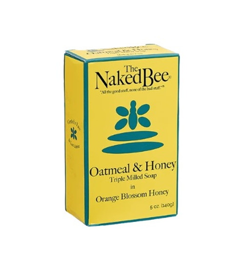 Naked Bee Triple Milled Soap 5oz.  Orange Blossom Honey