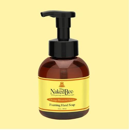 Naked Bee Foaming Hand Soap 12oz.  Orange Blossom Honey