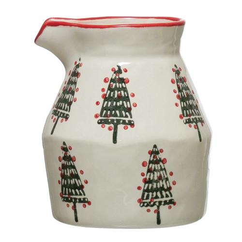 Stoneware Christmas Creamer