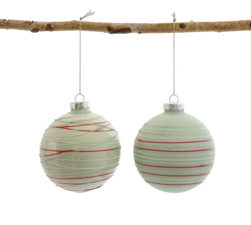 Striped Ball Ornament