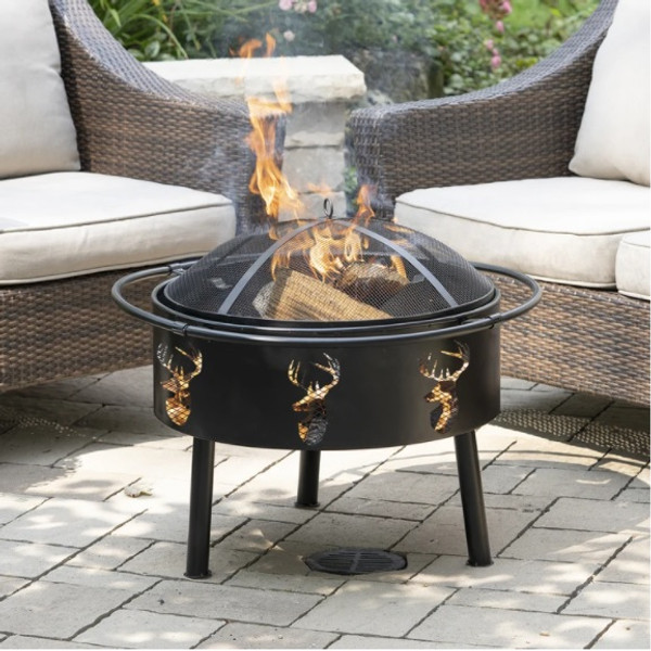 Barrel Fire Pit with Safety Ring