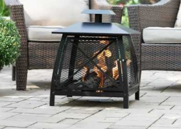 Outdoor Enclosed Fire Pit with Door