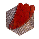 Ethically sourced, red, natural Gua Sha stones for natural facial massage to lift and tighten skin while increasing blood flow.
