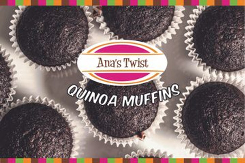 Box 6 Pieces of Quinoa Muffins with Organic Chocolate