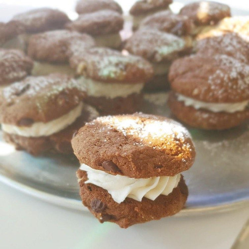Chocolate Cream Pie Cookies
