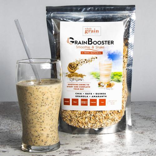 GrainBooster (1 Bag) – Delicious blend of whole grains & seeds (chia, quinoa, oats, amaranth, granola…)