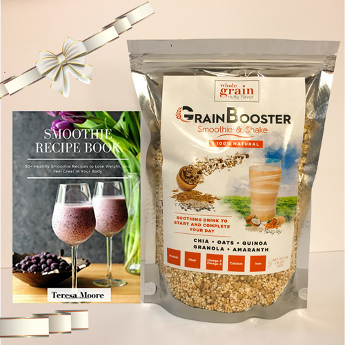 "GrainBooster Gift Set: 1 ""Smoothies Recipe"" 50 Recipes book + 1 bag of GrainBooster"