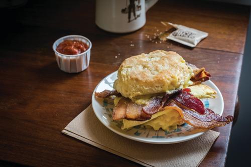 Breakfast Sandwich w Bacon - Cowbell Kitchen