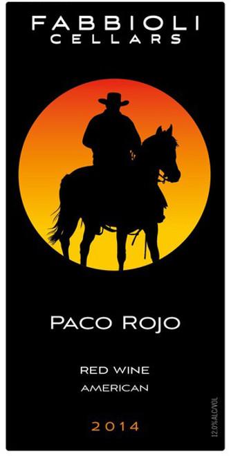 Paco Rojo, 2014 - Fabbioli Cellars