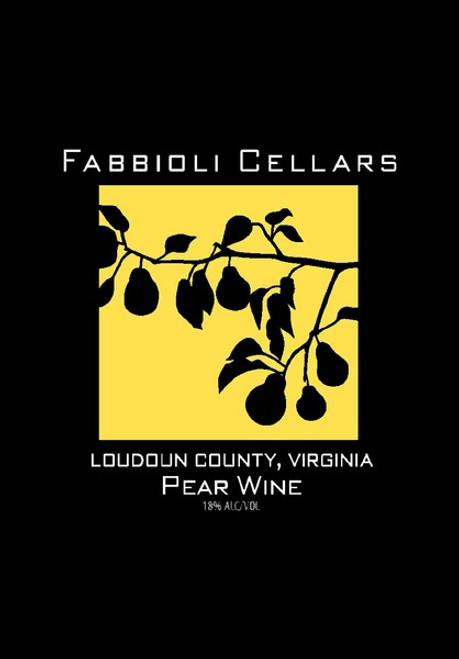 Port-Style Pear Wine - Fabbioli Cellars