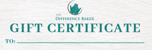 Gift Certificate - The Difference Baker