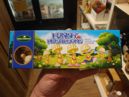 Funny Mushrooms White Chocolate Biscuits - Loudounberry
