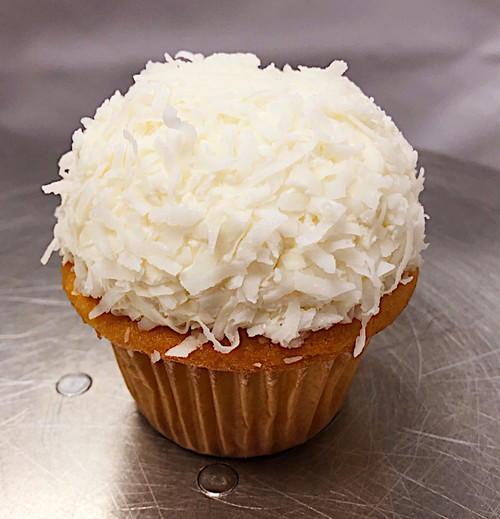 Vegan Yellow Coconut Cupcake - Sweetz Bakery