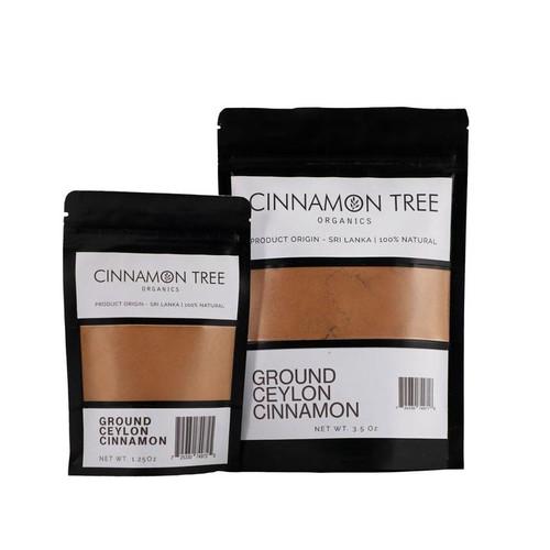Cinnamon Tree Organics Single origin ground Ceylon cinnamon, bags of both sizes