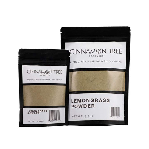 Cinnamon Tree Organics Lemongrass, bags of both sizes