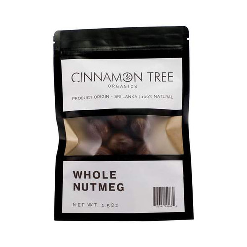Cinnamon Tree Organics Organically grown nutmeg in shell, large bag