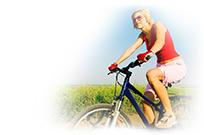 Girl on bike_soft edges