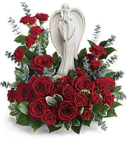 roses, angel