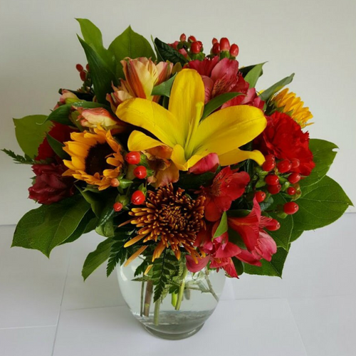 Send a petite bowl of Fall Flowers to someone!