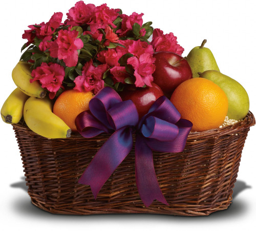 Fruit flowers basket