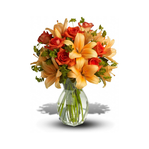 Spark someone's attention by sending this absolutely radiant bouquet. Full of flowers and fiery beauty, it makes a beautiful gift for any occasion.