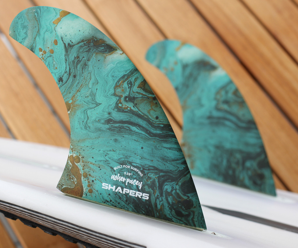 """Asher Pacey 5.59"""" Twin Fin - Turquoise"""