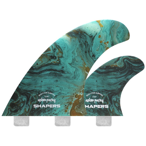 "Asher Pacey 5.59""  Twin Fin - Turquoise"