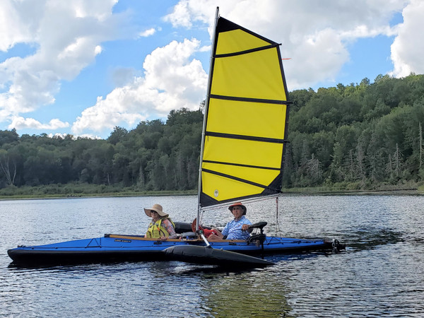 Klepper Aerius II frame and new Long Haul skin with 36 BSD sail rig