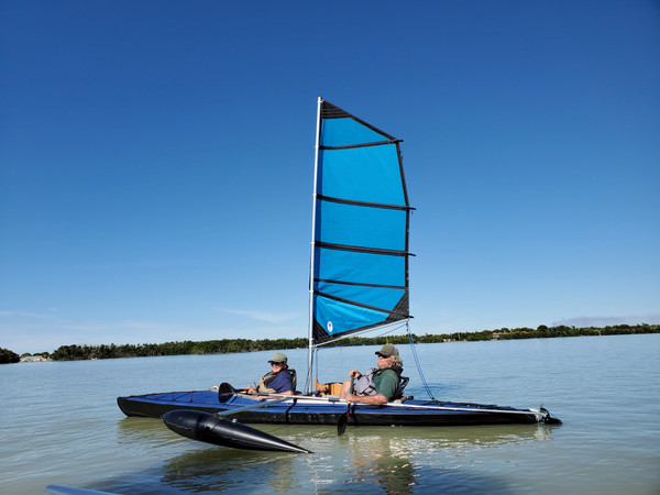 Folbot Super with 36 HP sail