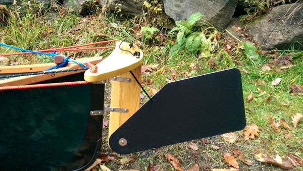 Our Canoe rudder can be used on a wide variety of Boats. All hardware and fasteners included.