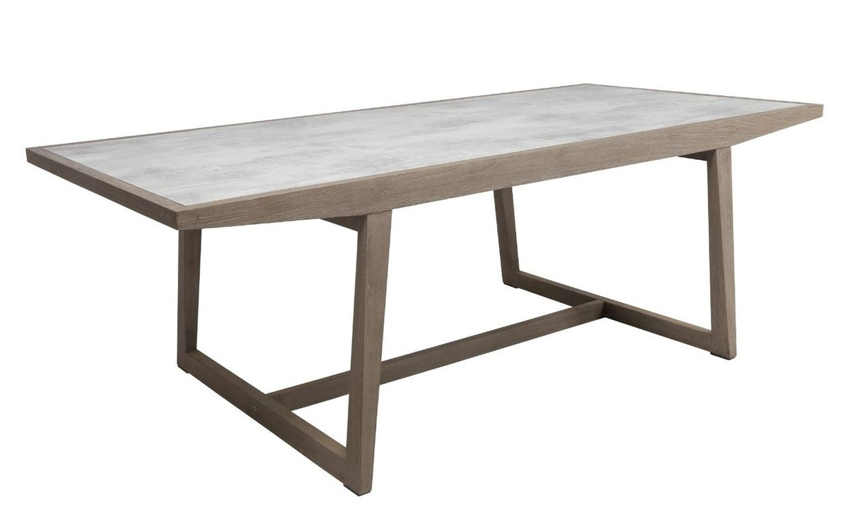 Picture of: Skaal Outdoor Teak And Hpl Top Extending Dining Table 200 270cm