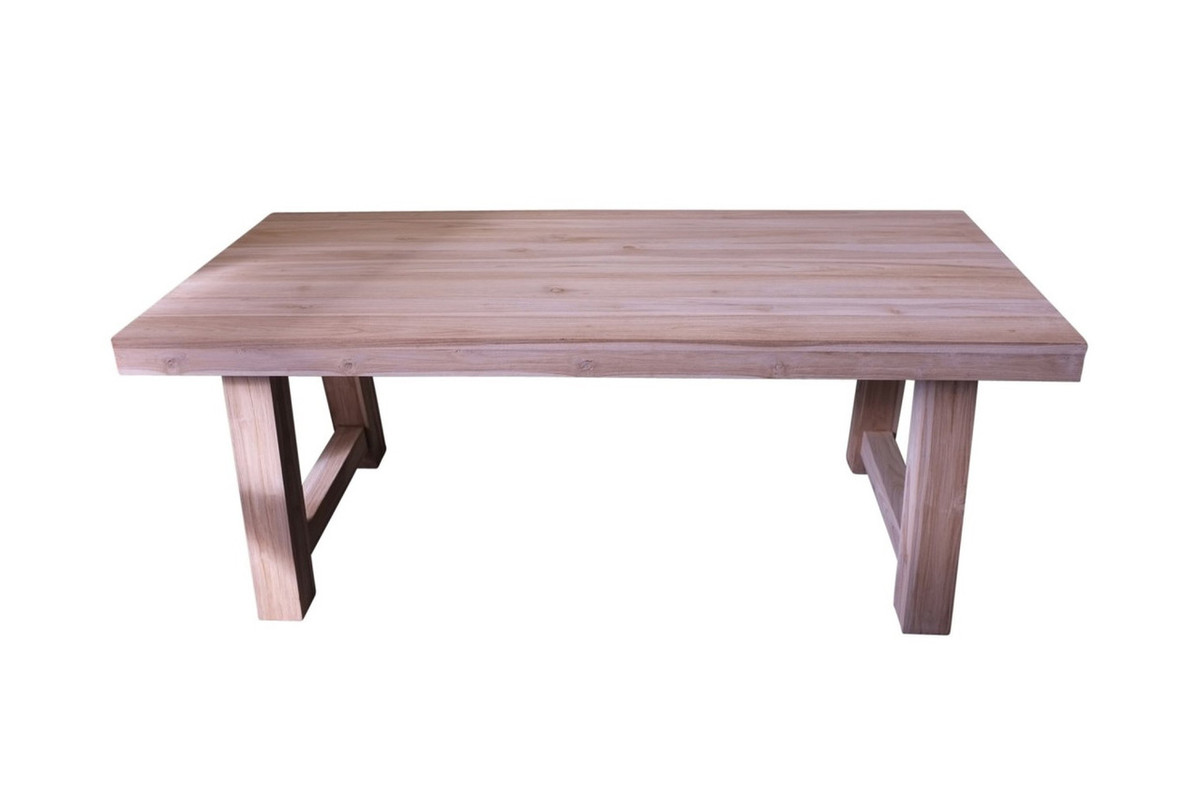 Picture of: Block Aged Teak Outdoor Dining Table 195x95cm Poynters