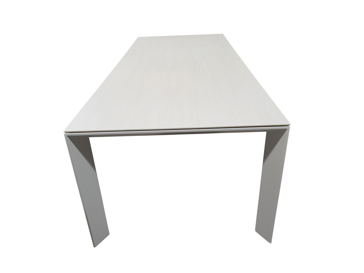 Orlando outdoor aluminium and ceramic top dining table, 240x100 Timber Ice