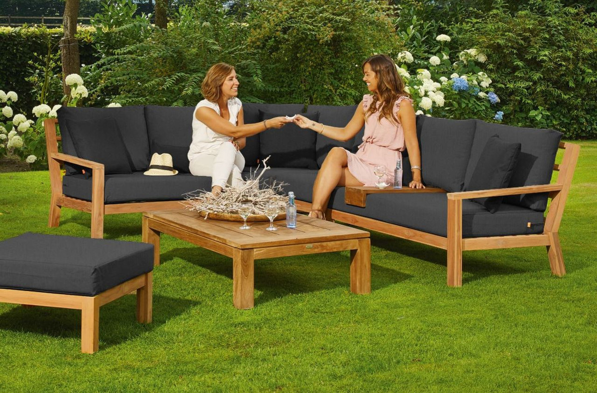 Timber Teak Corner Sofa Set By Life Outdoor Living