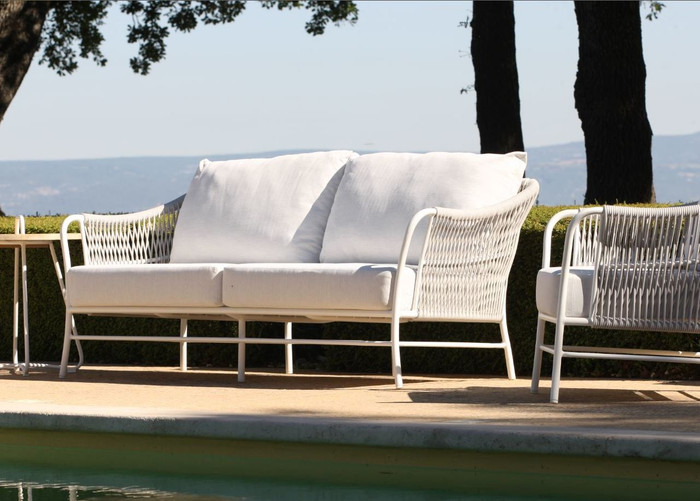 Roma Outdoor Cord & Aluminium Sofa