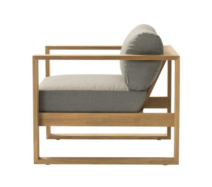 Devon Milford outdoor teak lounge chair