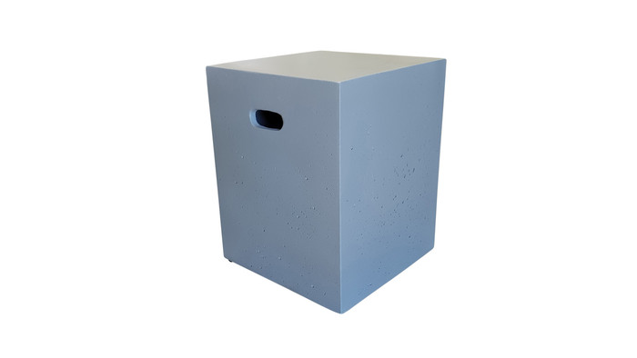 Lightweight limestone concrete square stool