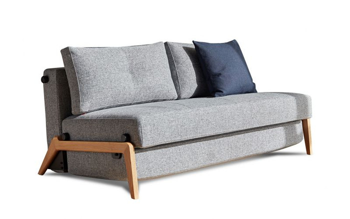Cubed02 160 sofa bed shown in Granite twist fabric