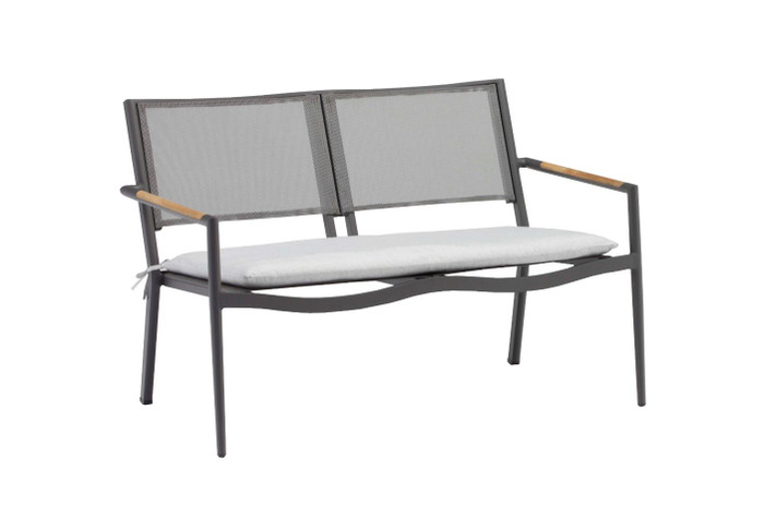 Polo 2 person outdoor sofa (shown with optional seat pad)