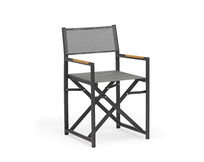 Polo Directors Chair in dark grey with Batyline mesh