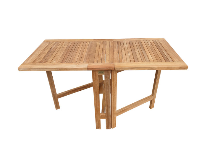 Teak folding butterfly table