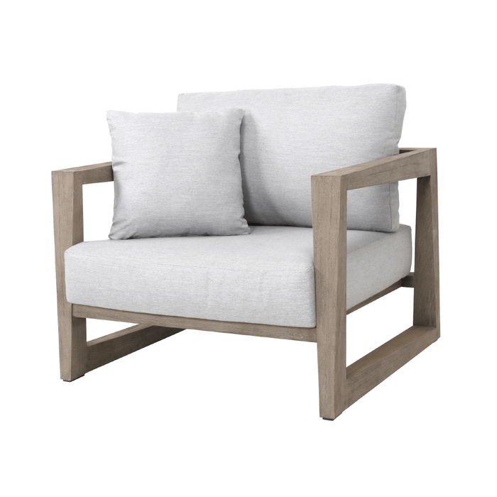 Skaal outdoor teak low chair by Les Jardins