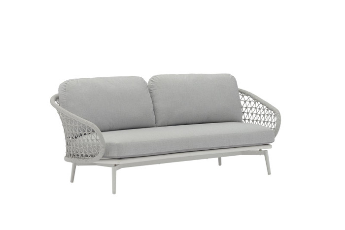Cuddle outdoor aluminium and rope 2.5 person sofa