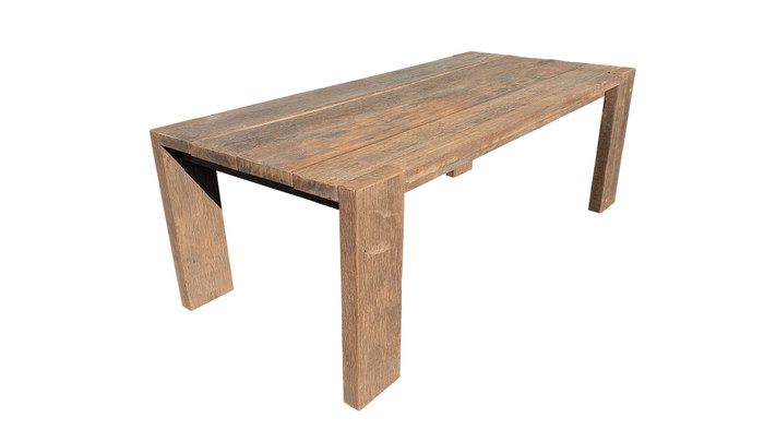 Exclusive reclaimed Railwood outdoor table - please read characteristics. Very heavy ! 2.2m table shown