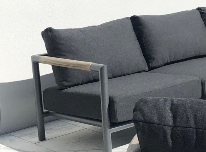 Bastingage Outdoor 2 person sofa - Space Grey frame, 169cm