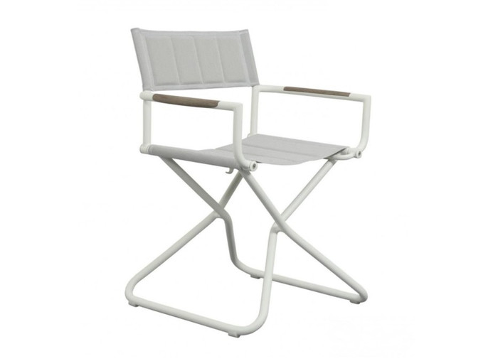 Bastingage outdoor directors chair in white