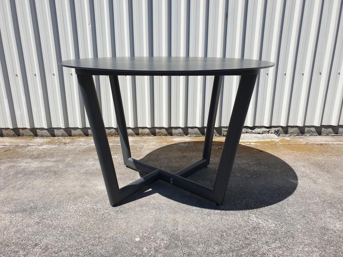 Club outdoor round table  in dark grey